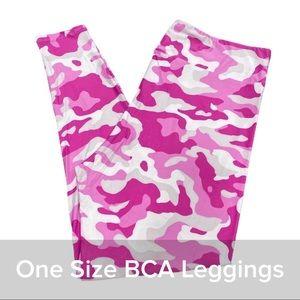 Lularoe Leggings Pink Camo Print OS